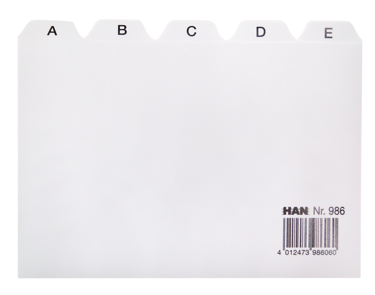 HAN | Register A-Z DIN A6 quer grau